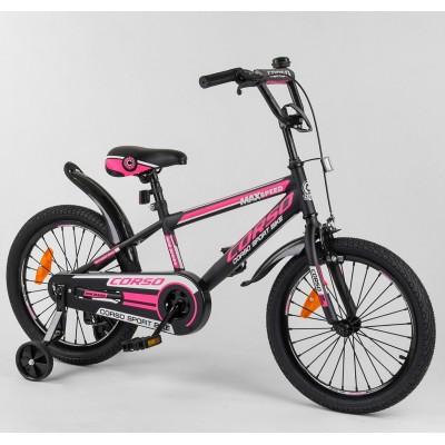 Детский двухколесный велосипед Corso ST-18088 18 дюймов с противоударными дисками