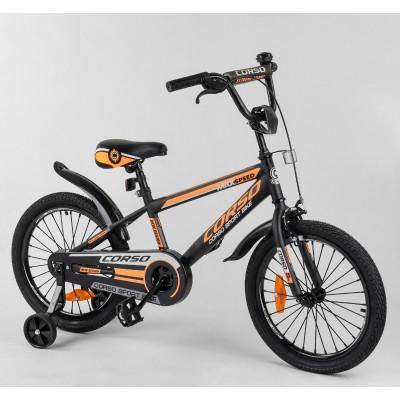 Детский двухколесный велосипед Corso ST-18207 18 дюймов с противоударными дисками