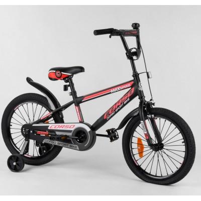Детский двухколесный велосипед Corso ST-18702 18 дюймов с противоударными дисками