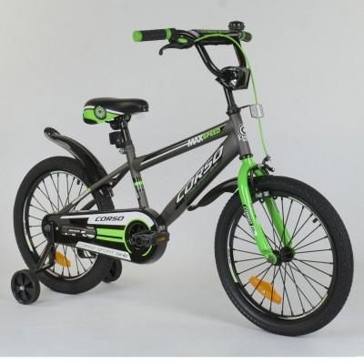 Детский двухколесный велосипед Corso ST-1015 с противоударными дисками 18 дюймов