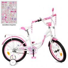 Детский двухколесный велосипед Y1825 Profi Butterfly 18 дюймов