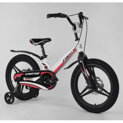 Детский двухколесный велосипед Corso MG-18405 магниевая рама, дисковые тормоза 18 дюймов