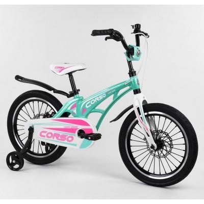 Детский двухколесный велосипед Corso MG-18601 магниевая рама, дисковые тормоза 18 дюймов