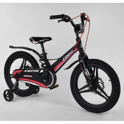 Детский двухколесный велосипед Corso MG-18703 магниевая рама, дисковые тормоза 18 дюймов