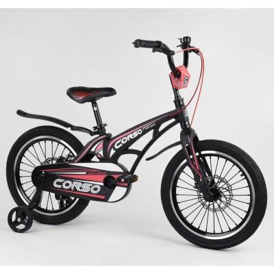 Детский двухколесный велосипед Corso MG-18939 магниевая рама, дисковые тормоза 18 дюймов
