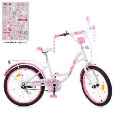 Детский двухколесный велосипед Y2025 Profi Butterfly 20 дюймов