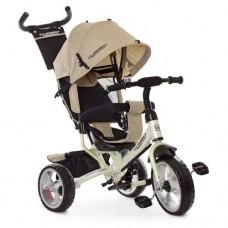 Детский трехколесный велосипед Turbo Trike M 3113-9L  Бежевый  Лён