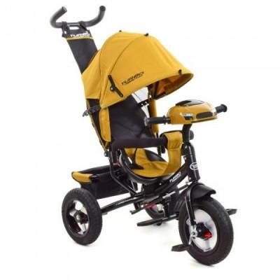 Детский трехколесный велосипед Turbo Trike M 3115-24 Горчичный с USB