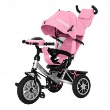 Детский трехколесный велосипед с фарой T-362/2 Camaro Розовый с поворотным сидением