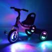 Детский  трехколесный велосипед Turbo Trike M 3650-2 со светящимися колесами и музыкой