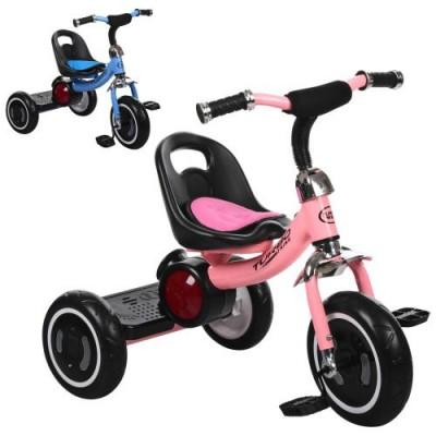 Детский  трехколесный велосипед Turbo Trike M 3650-1 со светящимися колесами и музыкой