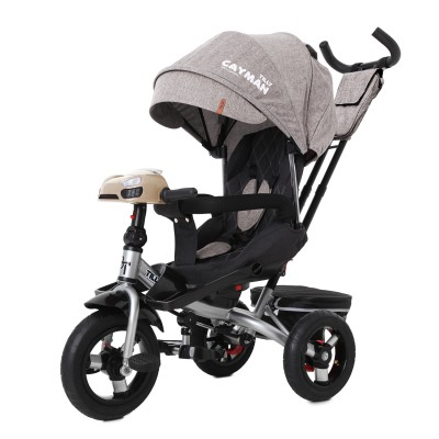 Детский трехколесный велосипед TILLY CAYMAN T-381/6 с пультом и USB Бежевый лён