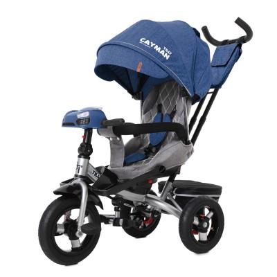 Детский трехколесный велосипед TILLY CAYMAN T-381/6 с пультом и USB Синий лён