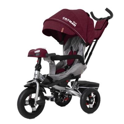 Детский трехколесный велосипед TILLY CAYMAN T-381/6 с пультом и USB Красный лён