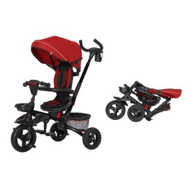 Детский трехколесный велосипед TILLY Flip T-390 Красный с поворотным сидением, складной