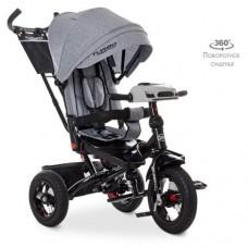 Детский трехколесный велосипед M 5448HA-19L Turbo Trike СЕРЫЙ ЛЁН с поворотным сидением