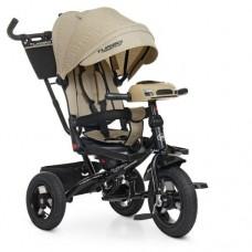 Детский трехколесный велосипед M 5448HA-7L Turbo Trike БЕЖЕВЫЙ ЛЁН с поворотным сидением