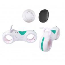 Беговел толокар Cosmo-байк с Bluetooth и LED-подсветкой Бело-зеленый