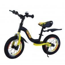 Детский беговел BALANCE TILLY Rocket T-212520/1 Yellow с ручным тормозом 12 дюймов (надувные колеса)