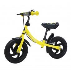 Детский беговел BALANCE TILLY Eclipse T-21254/1 Yellow 12 дюймов с ручным тормозом