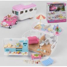 Кукольный домик на колесах с машиной 12118