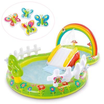 Детский игровой надувной центр 57154 Intex Сад