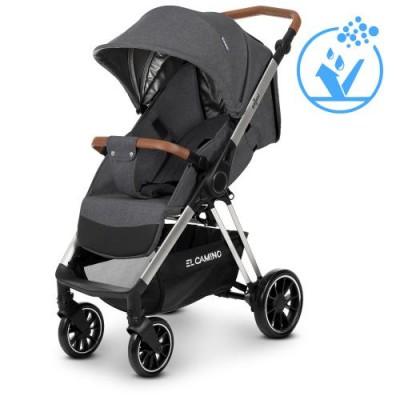 Детская прогулочная коляска ME 1071 GALLANT v.2 Dark Grey с водоотталкивающей тканью