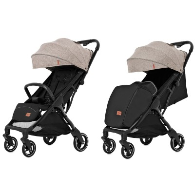 Детская прогулочная коляска CARRELLO Turbo CRL-5503 Warm Beige + дождевик