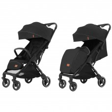 Детская прогулочная коляска CARRELLO Turbo CRL-5503 Deep Black + дождевик