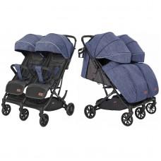 Детская прогулочная коляска для двойни CARRELLO Presto Duo CRL-5506 Oxford Blue + дождевик