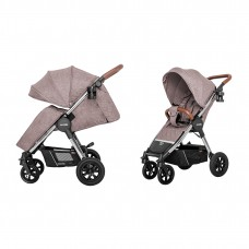 Детская прогулочная коляска CARRELLO Supra CRL-5510 Bisquit Beige + дождевик, резиновые колеса