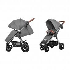 Детская прогулочная коляска CARRELLO Supra CRL-5510 Carbon Grey + дождевик, резиновые колеса
