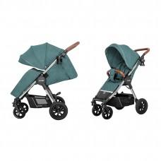 Детская прогулочная коляска CARRELLO Supra CRL-5510 Aqua Green + дождевик, резиновые колеса