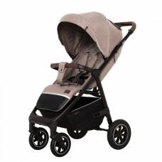 Детская прогулочная коляска CARRELLO Bravo CRL-5512 Linen Beige + дождевик,резиновые колеса