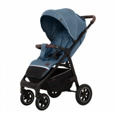 Детская прогулочная коляска CARRELLO Bravo CRL-5512 Pacific Blue + дождевик,резиновые колеса