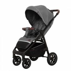 Детская прогулочная коляска CARRELLO Bravo CRL-5512 Elephant Grey + дождевик,резиновые колеса