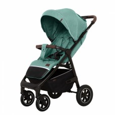 Детская прогулочная коляска CARRELLO Bravo CRL-5512 Basil Green + дождевик,резиновые колеса