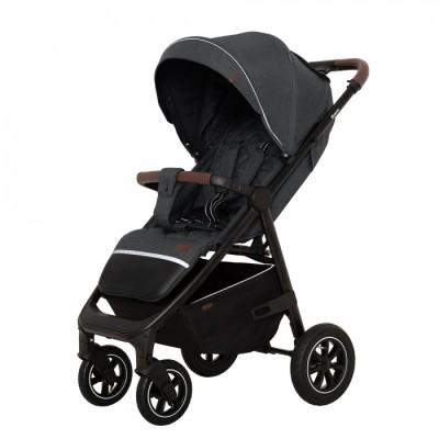Детская прогулочная коляска CARRELLO Bravo CRL-5512 Serious Grey + дождевик,резиновые колеса