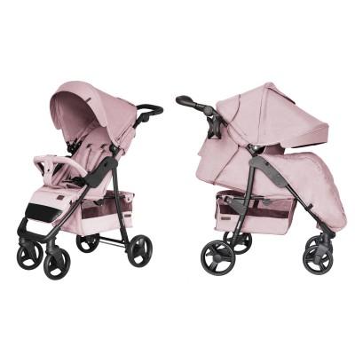 Детская прогулочная коляска CARRELLO Quattro CRL-8502/3 Vanilla Pink + дождевик + москитка