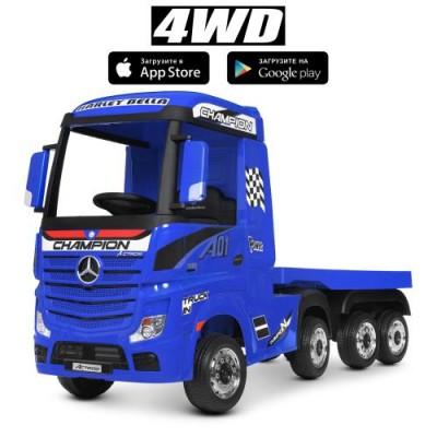 Детский электромобиль грузовик M 4208EBLR-4-2 с прицепом 4-моторный