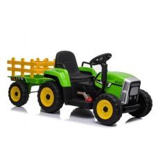 Детский электромобиль трактор с прицепом XM611 Green
