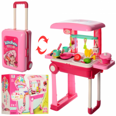 Детская игровая кухня 008-921 в чемодане
