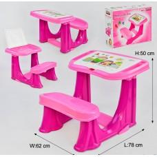 Детская парта 03-433 Розовая
