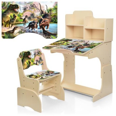 Детская парта B 2071-91-3 Динозавры