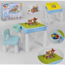 Детский игровой стол с конструктором 3035