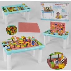 Детский игровой стол с конструктором 6307
