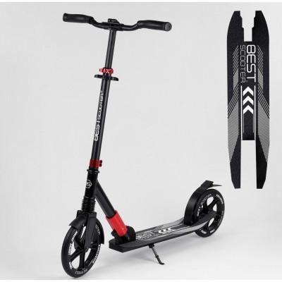 Самокат алюминиевый 'Best Scooter' 36956 (2) колеса PU, d переднего колеса - 230мм, d заднего колеса - 215мм, 1 амортизатор передний, в коробке