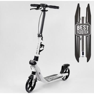 Самокат двухколесный 'Best Scooter' 81937 (2) колеса PU, d колес - 200мм, 2 амортизатора, зажим руля, ручной тормоз, в коробке