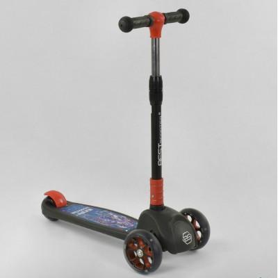 Детский трехколесный самокат Best Scooter 20157, свет колёс и дисков