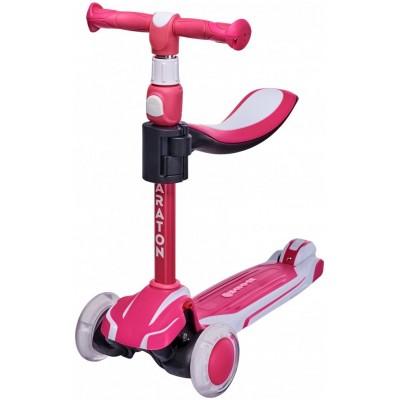 Детский трехколесный самокат Maraton Flex Розовый